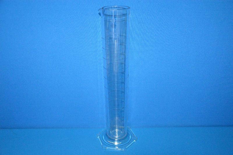 Цилиндр мерный с носиком высокий 1000 мл, ц.д.10 мл, класс В, 6-гранное основание, рельефная шкала, SAN (VITLAB)
