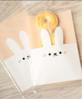 """Пакетик для подарков """"Кролик"""" 9.5х15 см , набор 100 штук"""