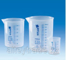 Стакан полипропилен 10 мл, ц.д.2 мл, синяя печатная шкала (РР) (VITLAB)