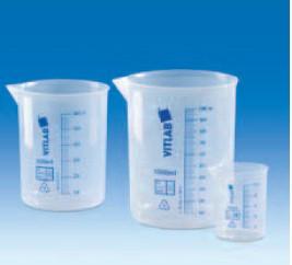 Стакан полипропилен 50 мл, ц.д.10 мл, синяя печатная шкала (РР) (VITLAB)