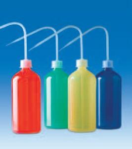 Промывалка узкогорлая полиэтиленовая 500 мл синего цвета, винт.крышка GL25 (PE-LD) (VITLAB)