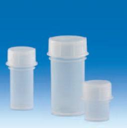 Контейнер для образцов полипропиленовый, V-60 мл, прозрачный, винт.крышка (РР) (VITLAB)