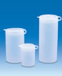 Виала для образцов полиэтиленовая, V-10 мл, с плотно закрывающейся навесной крышкой (PE-LD) (VITLAB)