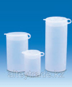 Виала для образцов полиэтиленовая, V-25 мл, с плотно закрывающейся навесной крышкой (PE-LD) (VITLAB)