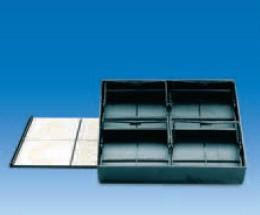 Контейнер для хранения 4 штативов для окрашивания 25 предметных стекол PS, 192x169х39 мм, (VITLAB)