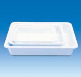 Лоток пластиковый, глубокий, белый, 200х150х50 мм (PVC) (VITLAB)