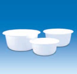 Чаша пластиковая круглая, белая, V-2 л, d-200 мм (PP) (VITLAB)
