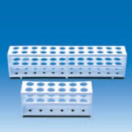 Штатив для пробирок, пластиковый (24 гнезда, d пробирок-21мм), белый (PP) (VITLAB)