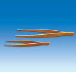 Пинцет пластиковый с закругленными концами, L-180 мм, желтый (POM) (VITLAB)