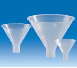 Воронка для порошков, пластиковая (d-65 мм, L-68 мм) (PP) (VITLAB)