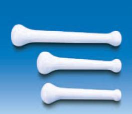 Пестик пластиковый L-160 мм, белый, прочный (MF) (VITLAB)