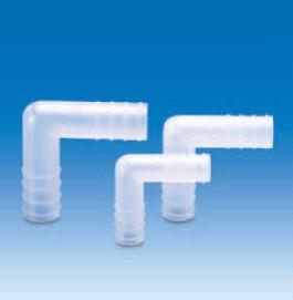 Переходник Г-образный под углом 90* полипропиленовый для шлангов с внутр.d-14-15 мм (PP) (VITLAB)