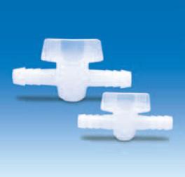 """Кран двухходовой полиэтиленовый для шлангов с внутр.d-1/2""""/12 мм (PE) (VITLAB)"""