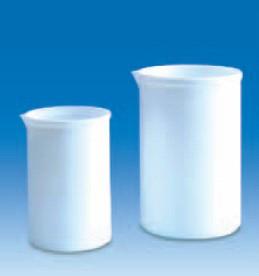 Стакан фторопластовый 500 мл, непрозрачный, стойкий к высоким температурам и химическим реагентам, PTFE (VITLAB)