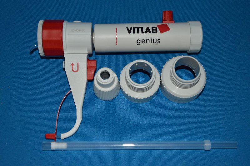 Диспенсер VITLAB simplex, V-2,5-25,0 мл, ц.д.0,5 мл, GL 45