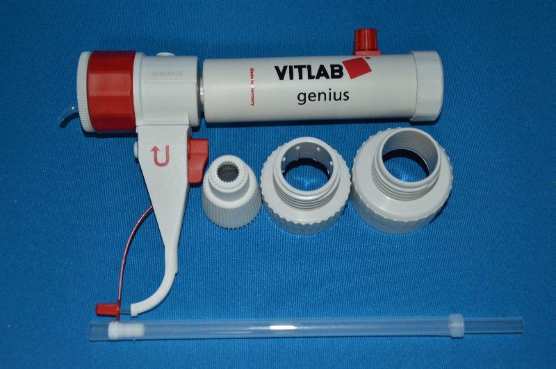 Диспенсер VITLAB simplex, V-10,0-100,0 мл, ц.д.2 мл, GL 45