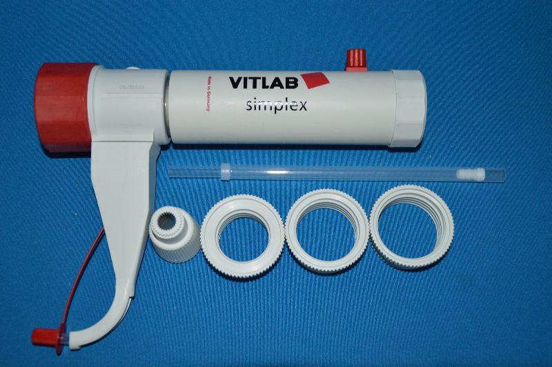 Диспенсер VITLAB genius, V-0,5-5,0 мл, ц.д.0,1 мл, GL 32, с предохранительным клапаном