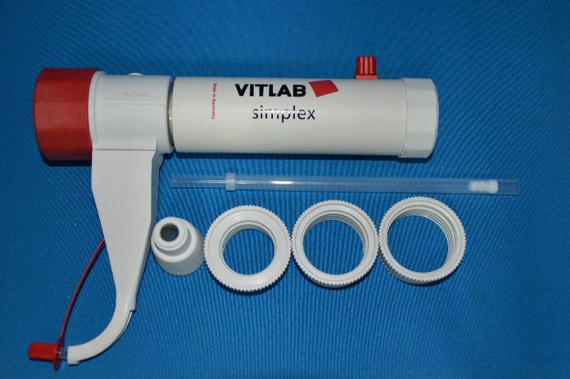 Диспенсер VITLAB genius, V-10,0-100,0 мл, ц.д.2,0 мл, GL 45, с предохранительным клапаном