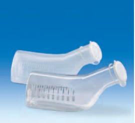Бутыль для сбора мочи полипропиленовая, V-1000 мл, ц.д. 50 мл, рельефная шкала, с крышкой (PP) (VITLAB)