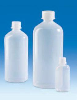 Бутыль узкогорлая полиэтиленовая, V-100 мл, винт.крышка (PE-LD) (VITLAB)