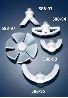 Насадка перемешивающая пропеллерного типа (6 лопастей), d-80 мм из PTFE (SVL)
