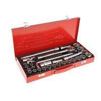 Набор инструментов в металлическом кейсе TUNDRA, автомобильный, CrV, 1/2', 32 предмета