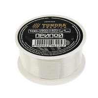 Припой TUNDRA, ПОС 60, на катушке, 1 мм, 100 г