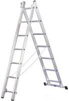 Алюминиевая лестница 2х6, Н=1,68/2,52 м (5206)