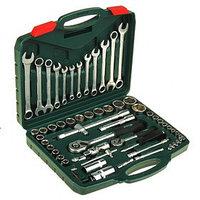 Набор инструментов в кейсе TUNDRA, автомобильный, CrV, 1/2' и 1/4', 61 предмет