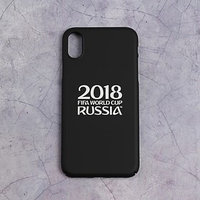 Чехол FIFA WORLD CUP RUSSIAN 2018, iPhone X, soft-touch