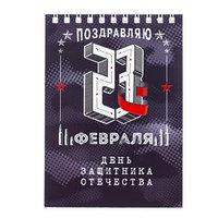 Блокнот 'День защитника Отечества', на гребне, А6, 40 листов