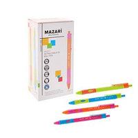 Ручка шариковая автоматическая для правшей MENTY, узел 0.7 мм, чернила синие, микс (комплект из 24 шт.)