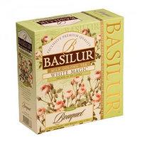 Basilur зеленый чай Bouquet White Magic, 100 пакетиков