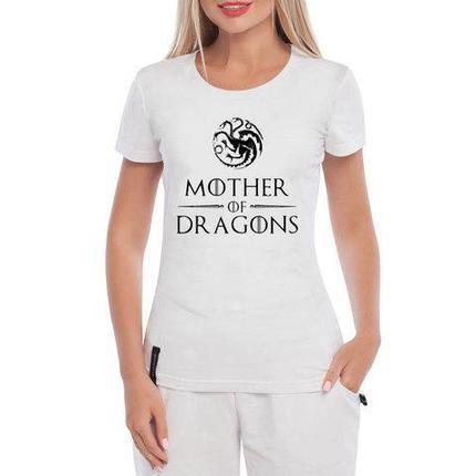 Футболка фаната «Игры престолов» с принтом (XXL / Мать драконов), фото 2
