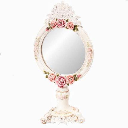 Зеркало настольное в стиле Shabby chic, фото 2