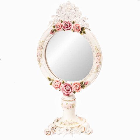 Зеркало настольное в стиле Shabby chic