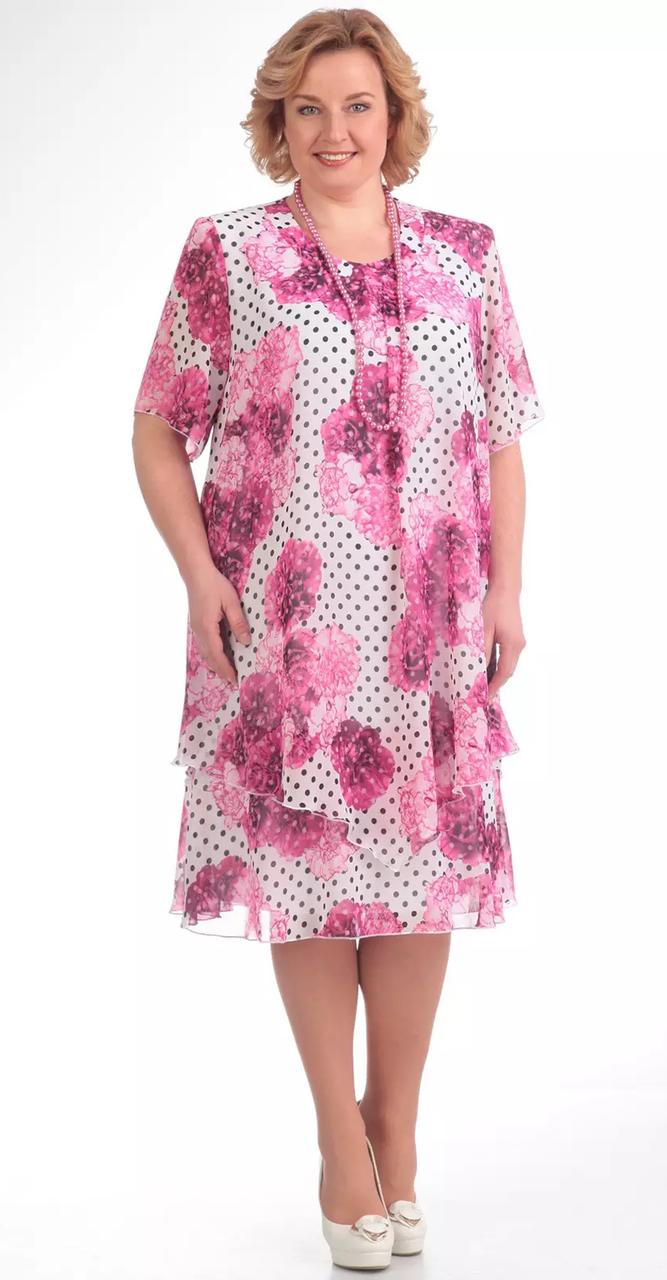 Платье Pretty-242/9, сиреневые тона, 50
