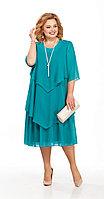 Платье Pretty-347/2, бирюза, 56