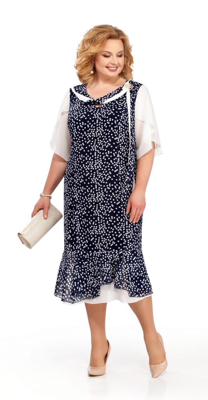 Платье Pretty-866/1, темно-синий, 56