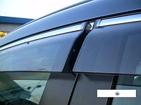 Ветровики/Дефлекторы окон с хромом на Subaru Outback/Субару Аутбэк 2010 -