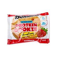 Печенье BombBar - Protein Cookie, 60 гр Клубника
