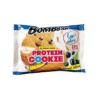 Низкокалорийное печенье BombBar - Protein Cookie, 40 гр Смородина-черника, фото 1
