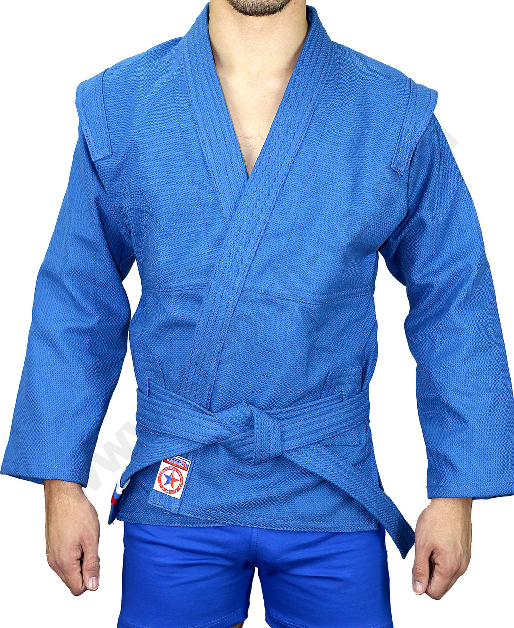 Кимоно самбо синий
