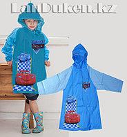 Дождевик детский из непромокаемой ткани с капюшоном (Тачки) M
