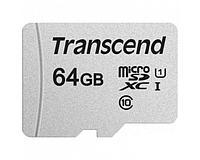 Карта памяти Micro SD 64Gb Transcend TS64GUSD300S-A class10 U1 (SD adapter)