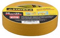 """Лента STAYER """"MASTER"""" клейкая, двусторонняя, на полипропиленовой основе, 38мм х 25м"""
