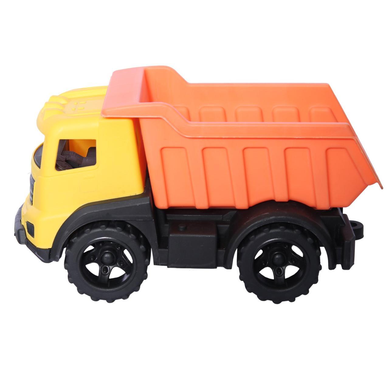 "Грузовик ""Казик"" (желтый + оранжевый) в коробке 25 см"