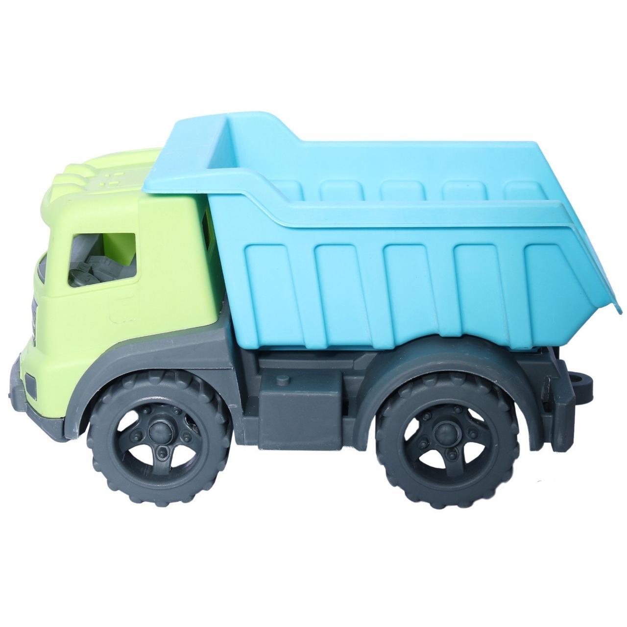 """Грузовик """"Казик"""" (зелёный + голубой) в коробке 25 см"""