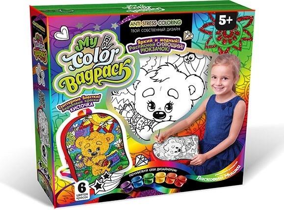 My Color BagPack Набор креативного творчества «Ласковый Мишка», Рюкзачок