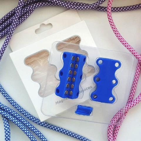 Умные магниты для шнурков Magnetic Shoelaces (Синий / Для взрослых)